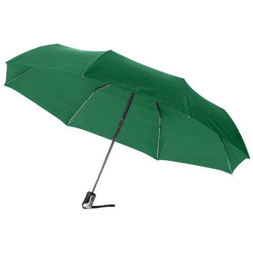 Alex 21.5'' foldable auto open/close umbrella in green