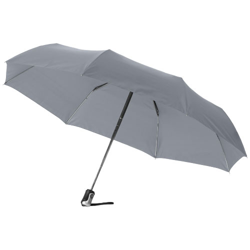 Alex 21.5'' foldable auto open/close umbrella in grey