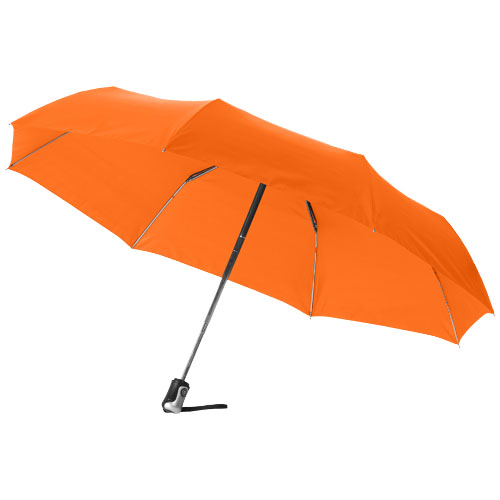 Alex 21.5'' foldable auto open/close umbrella in orange