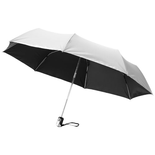 Alex 21.5'' foldable auto open/close umbrella in silver