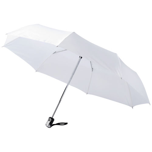 Alex 21.5'' foldable auto open/close umbrella in white-solid