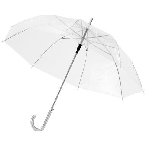 Kate 23'' transparent auto open umbrella in transparent-white