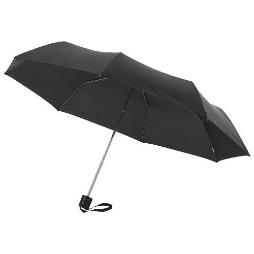 Ida 21.5'' foldable umbrella in white-solid