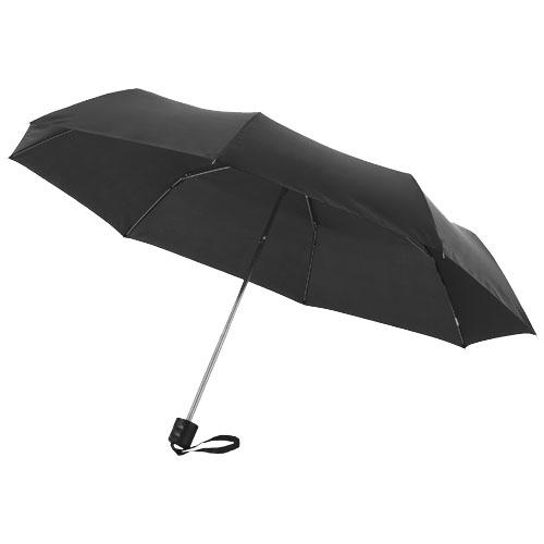 Ida 21.5'' foldable umbrella in black-solid