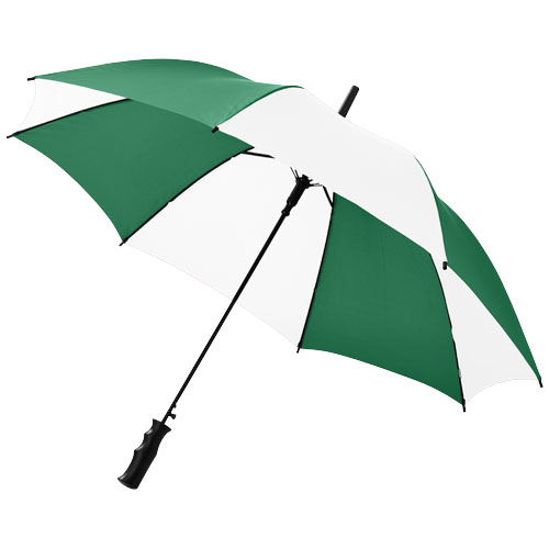 Barry 23'' auto open umbrella in green-and-white-solid