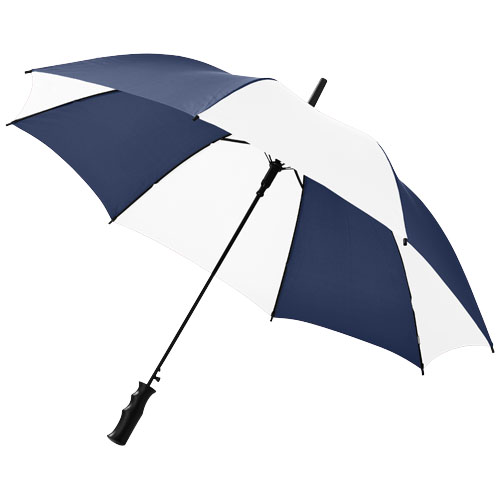 Barry 23'' auto open umbrella in navy-and-white-solid