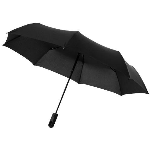 Trav 21.5'' foldable auto open/close umbrella in white-solid