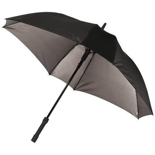 Square 23'' double-layered auto open umbrella in black-bronz