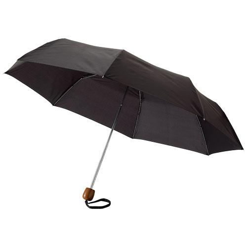 Lino 21.5'' foldable umbrella in black-solid