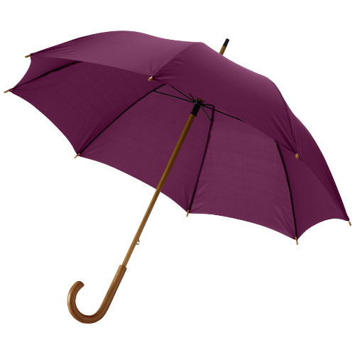 Jova 23'' umbrella with wooden shaft and handle in burgundy
