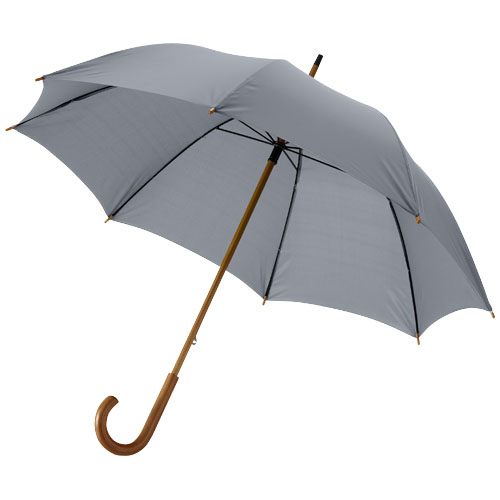 Jova 23'' umbrella with wooden shaft and handle in grey