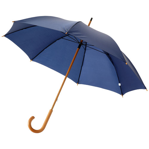Jova 23'' umbrella with wooden shaft and handle in navy