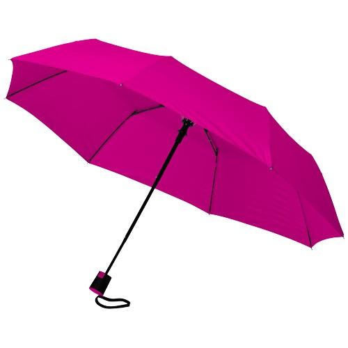 Wali 21'' foldable auto open umbrella in magenta