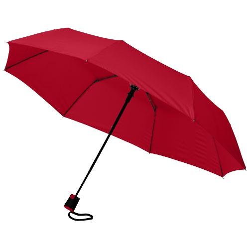 Wali 21'' foldable auto open umbrella in red