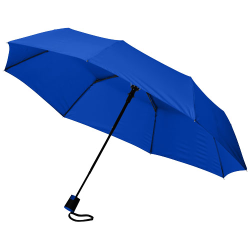 Wali 21'' foldable auto open umbrella in royal-blue