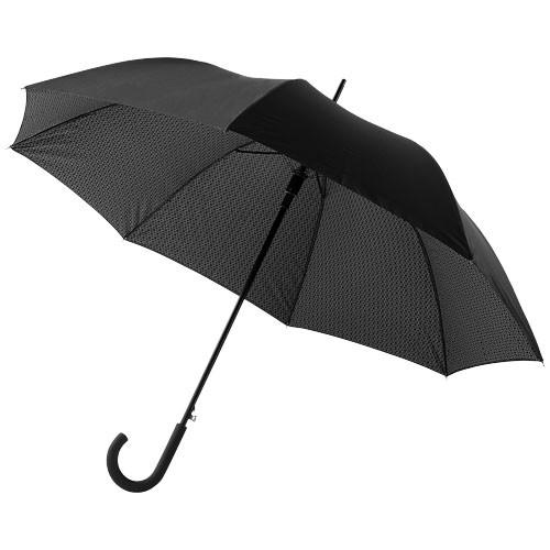 Cardew 27'' double-layered auto open umbrella in black-solid