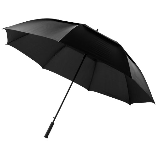 Brighton 32'' auto open vented windproof umbrella in black-solid