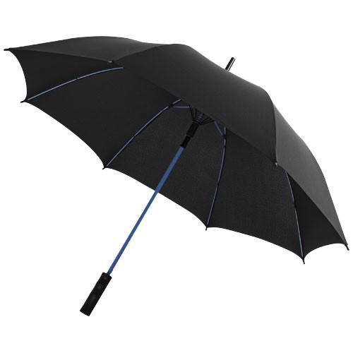 Stark 23'' windproof auto open umbrella in black-solid-and-white-solid