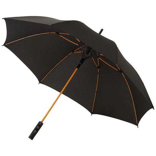 Stark 23'' windproof auto open umbrella in black-solid-and-orange