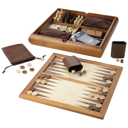 Tower 6-in-1 game in brown