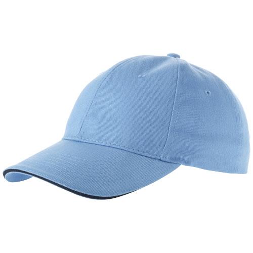 Challenge 6 panel sandwich cap in ocean-blue