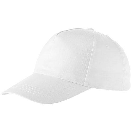 Memphis 5 panel cap in white-solid