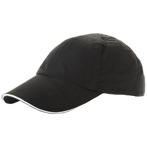 Alley 6 panel cool fit sandwich cap in white-solid