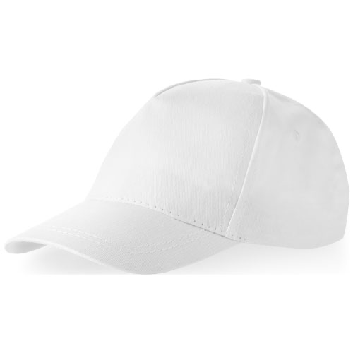 Memphis kids 5-panel cap in white-solid