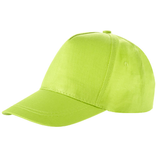 Memphis kids 5-panel cap in apple-green