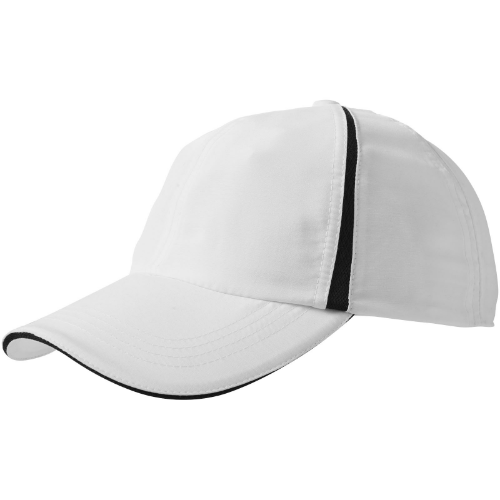 Momentum 6-panel cool fit sandwich cap in white-solid