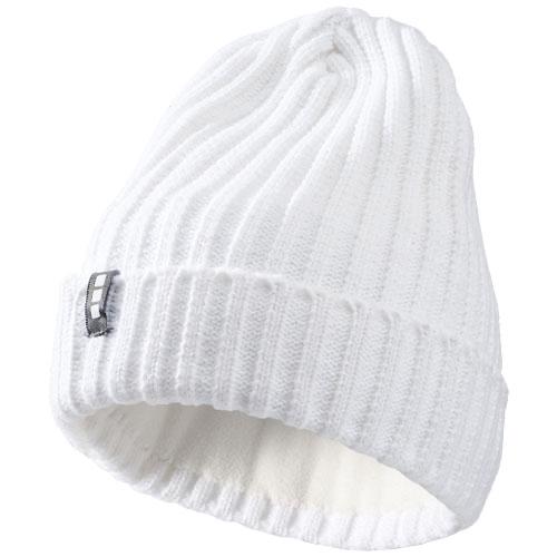 Spire beanie in white-solid