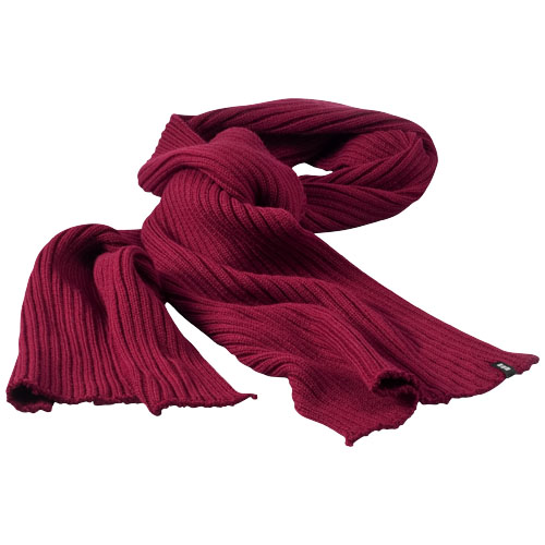 Broach scarf in burgundy