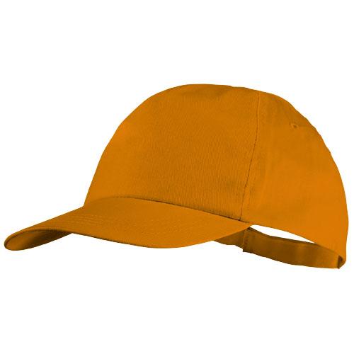 Basic 5-panel cotton cap in orange