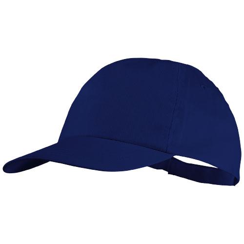 Basic 5-panel cotton cap in royal-blue