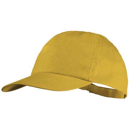 Basic 5-panel cotton cap in yellow