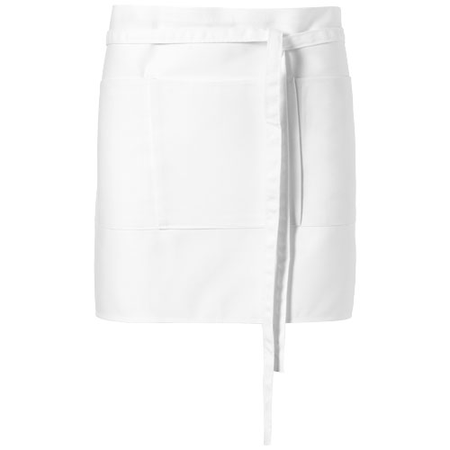 Lega short apron with 3 pockets in white-solid