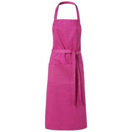Viera apron with 2 pockets in magenta