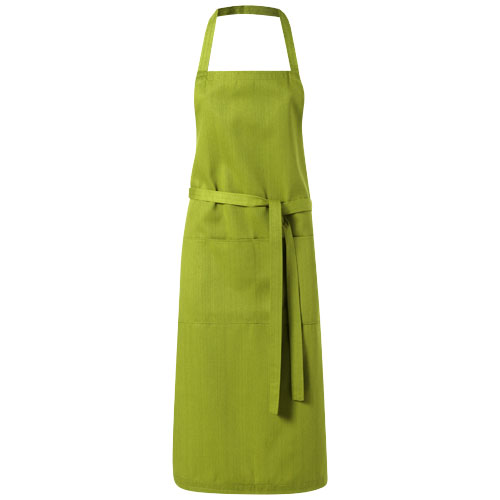 Viera apron with 2 pockets in olive
