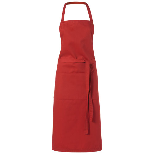 Viera apron with 2 pockets in red