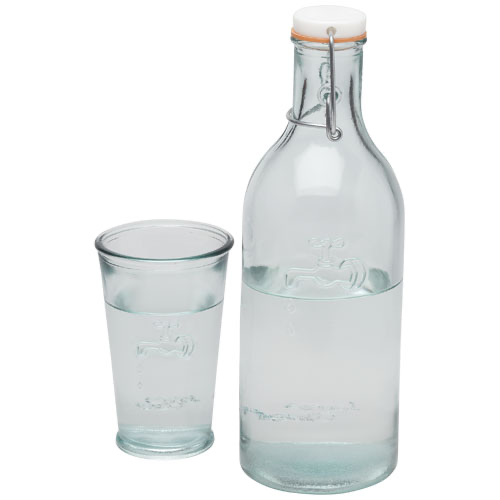 Ford 970 ml water carafe made from recycled glass in transparent