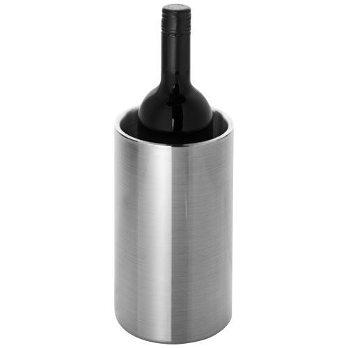 Cielo double-walled stainless steel wine cooler in silver