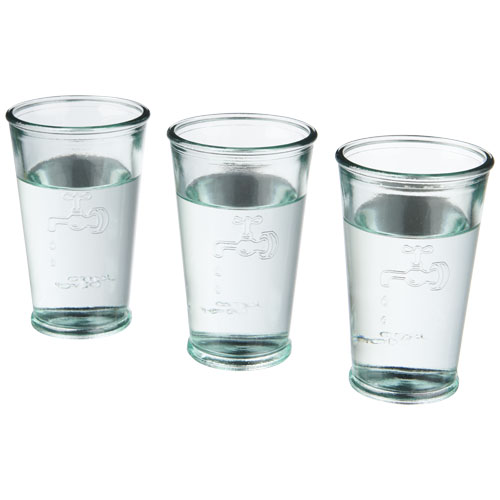 3 Water glasses in transparent-clear