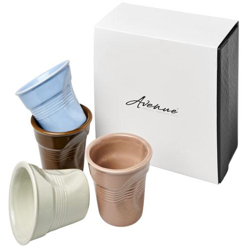 Milano 4-piece ceramic espresso cup set in multi-colou