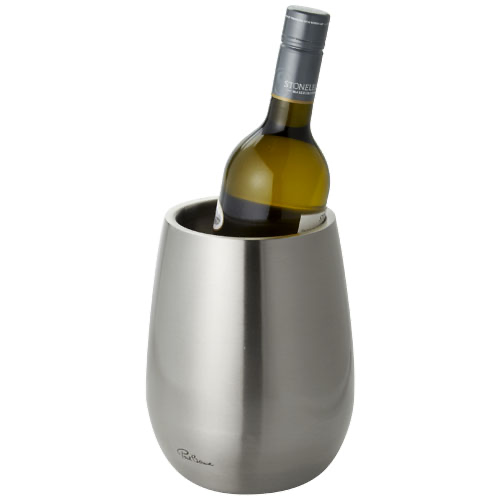 Coulan double-walled stainless steel wine cooler in silver