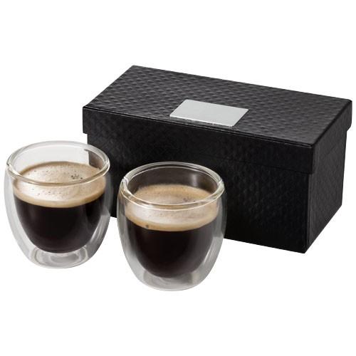 Boda 2-piece glass espresso cup set in transparent