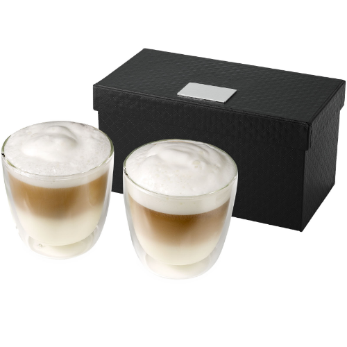 Boda 2-piece glass coffee cup set in