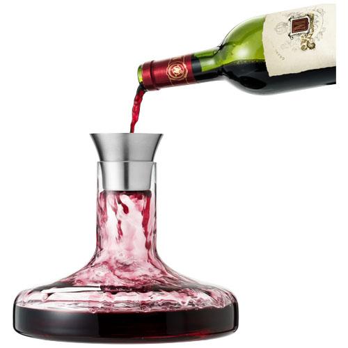 Flow wine decanter set in