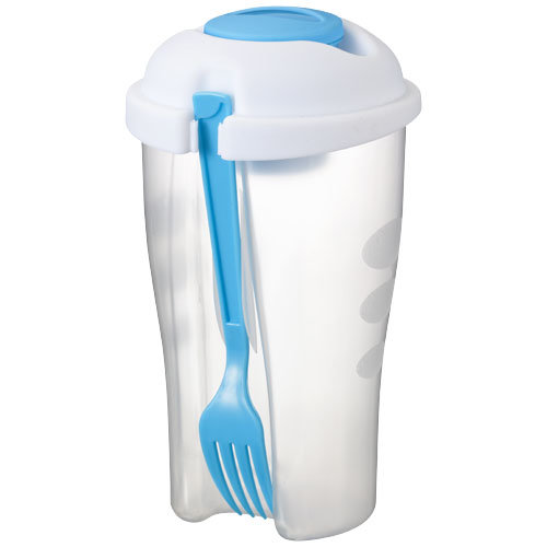 Shakey salad container set in transparent-blue