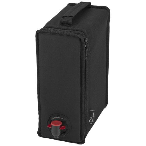 Vine wine cooler bag in black-solid