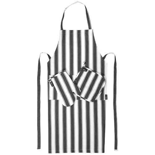 3-piece Cuisine set in black-solid-and-white-solid